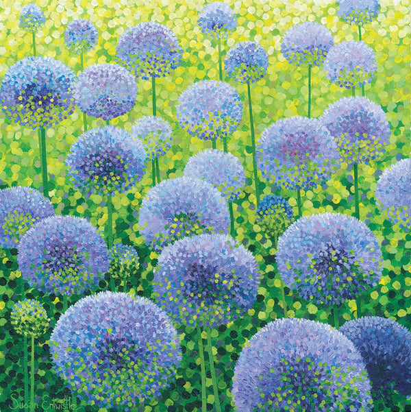 Azure Alliums limited edition print