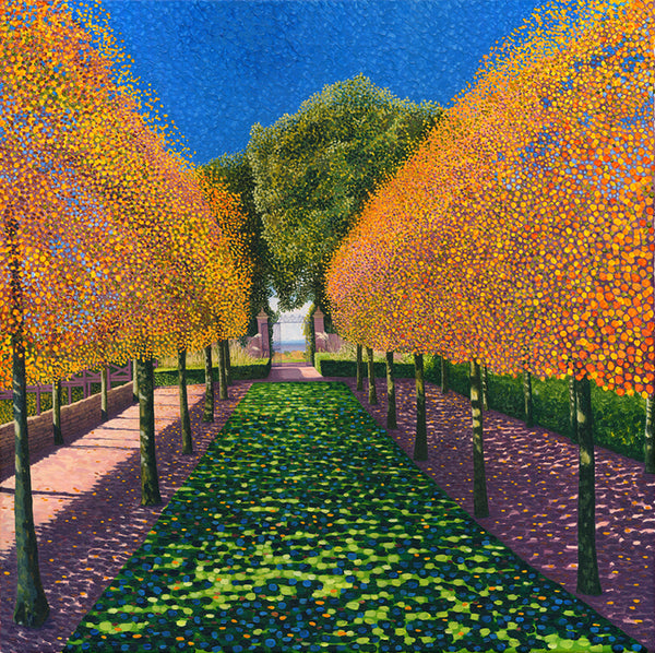 Hidcote Manor - Hornbeam Stilt Garden limited edition print