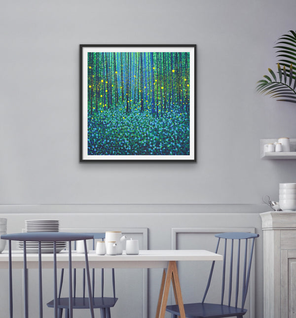 Forest Fireflies - Signed Edition Print