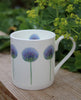 Blue Allium mug