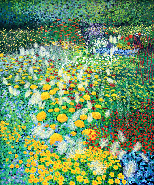 Cambo gardens floral limited edition print