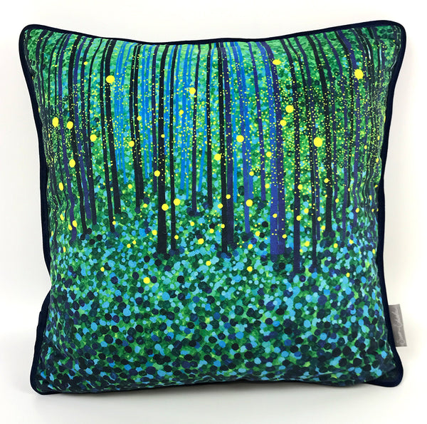 Forest Fireflies Cushion NEW DESIGN