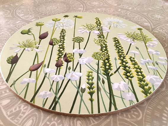 White Garden placemat single or pack of 4