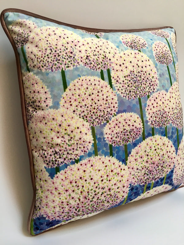Silver Spring Alliums Cushion