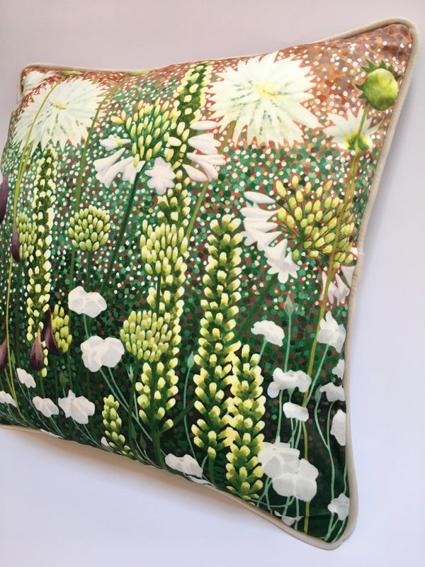 The White Garden Cushion