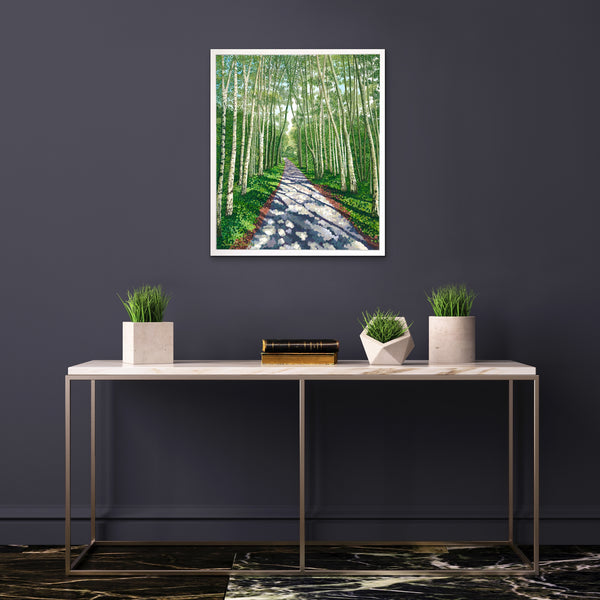 Birch Walk limited edition print