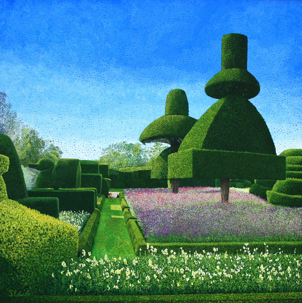 Levens Hall gardens limited edition paper print