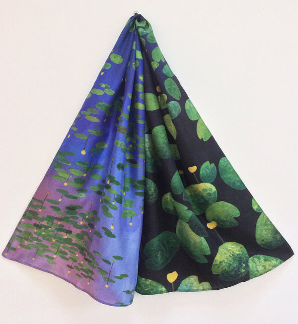 Water lilies silk scarf