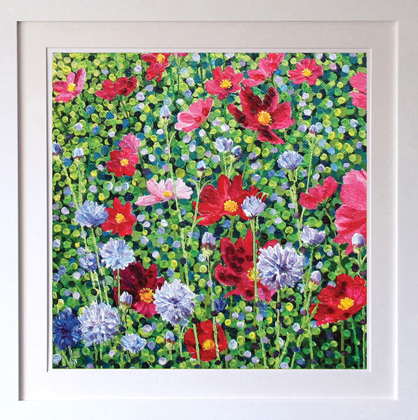 Cosmos & Cornflower Signed Edition Print