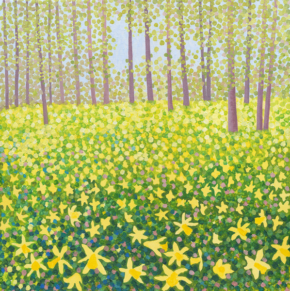 Woodland Daffodils card