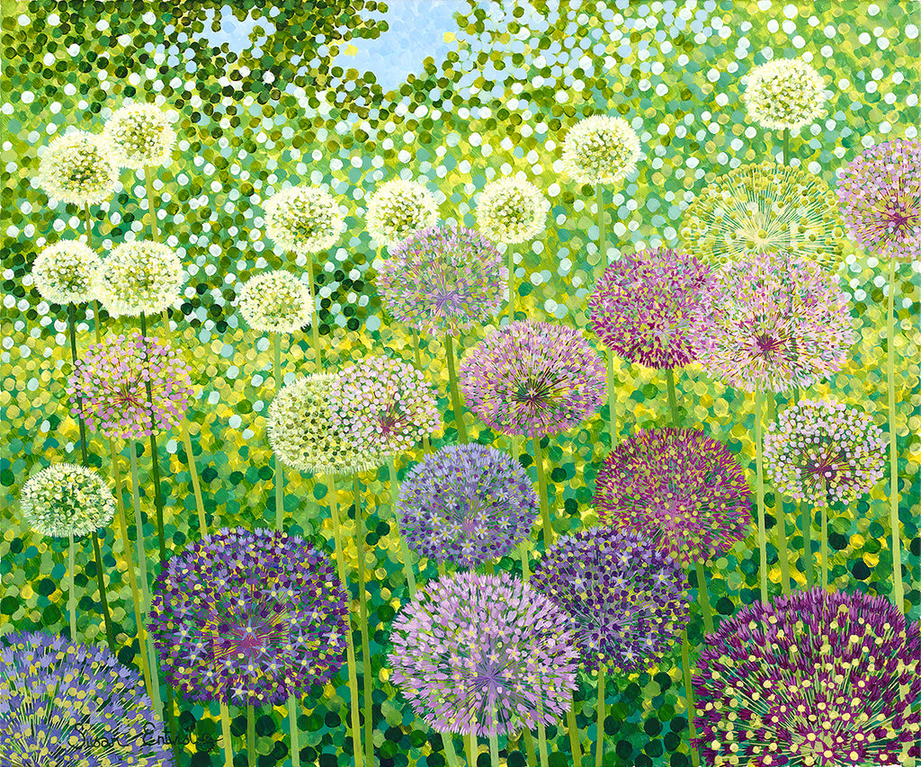 Globemaster Alliums limited edition print