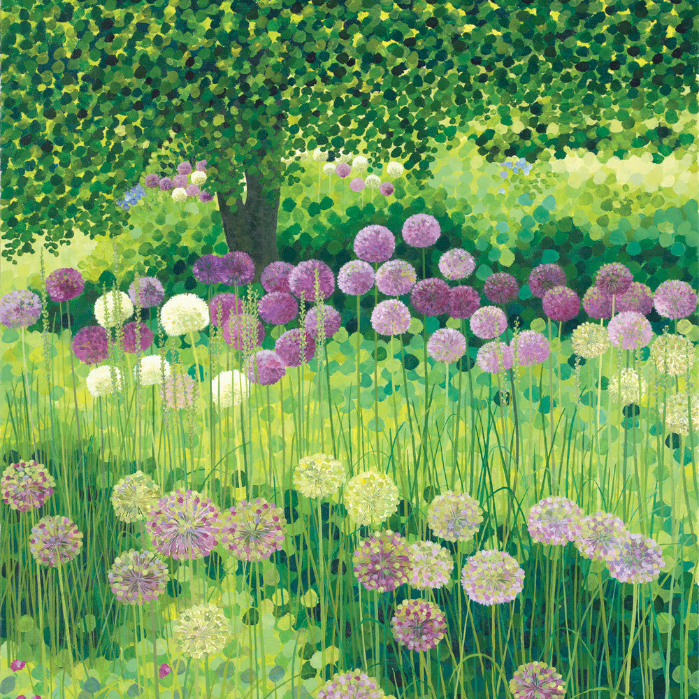 Purple Alliums card
