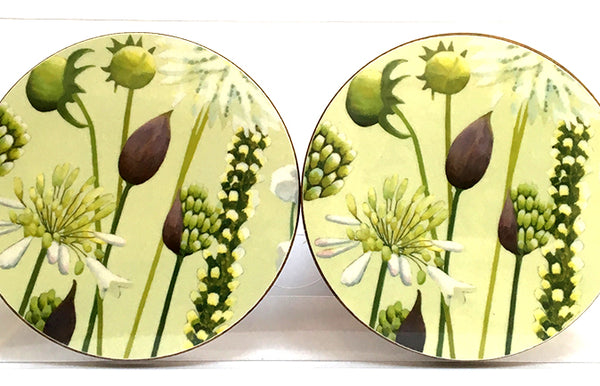 White Garden coaster pack of 4 or 6