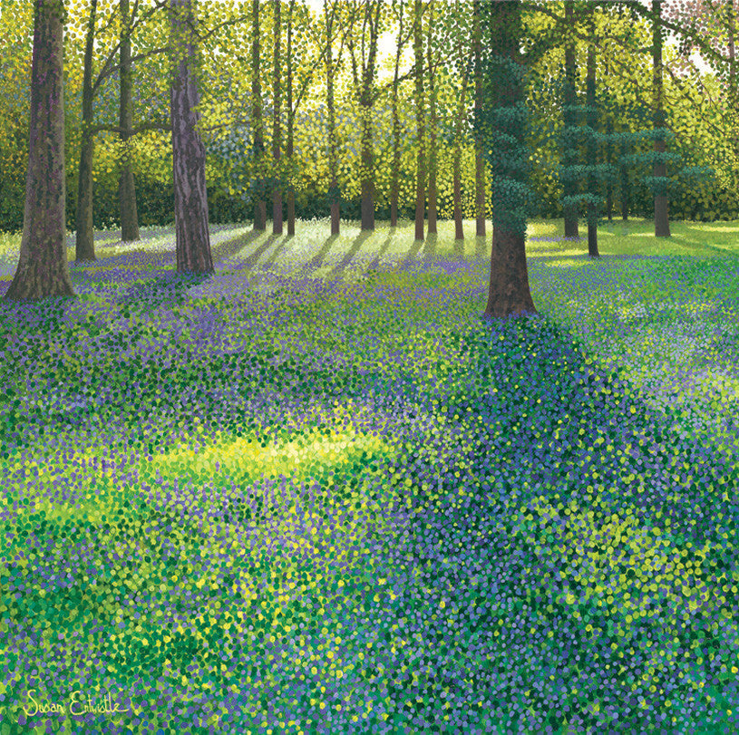 Bluebells at Wisley card