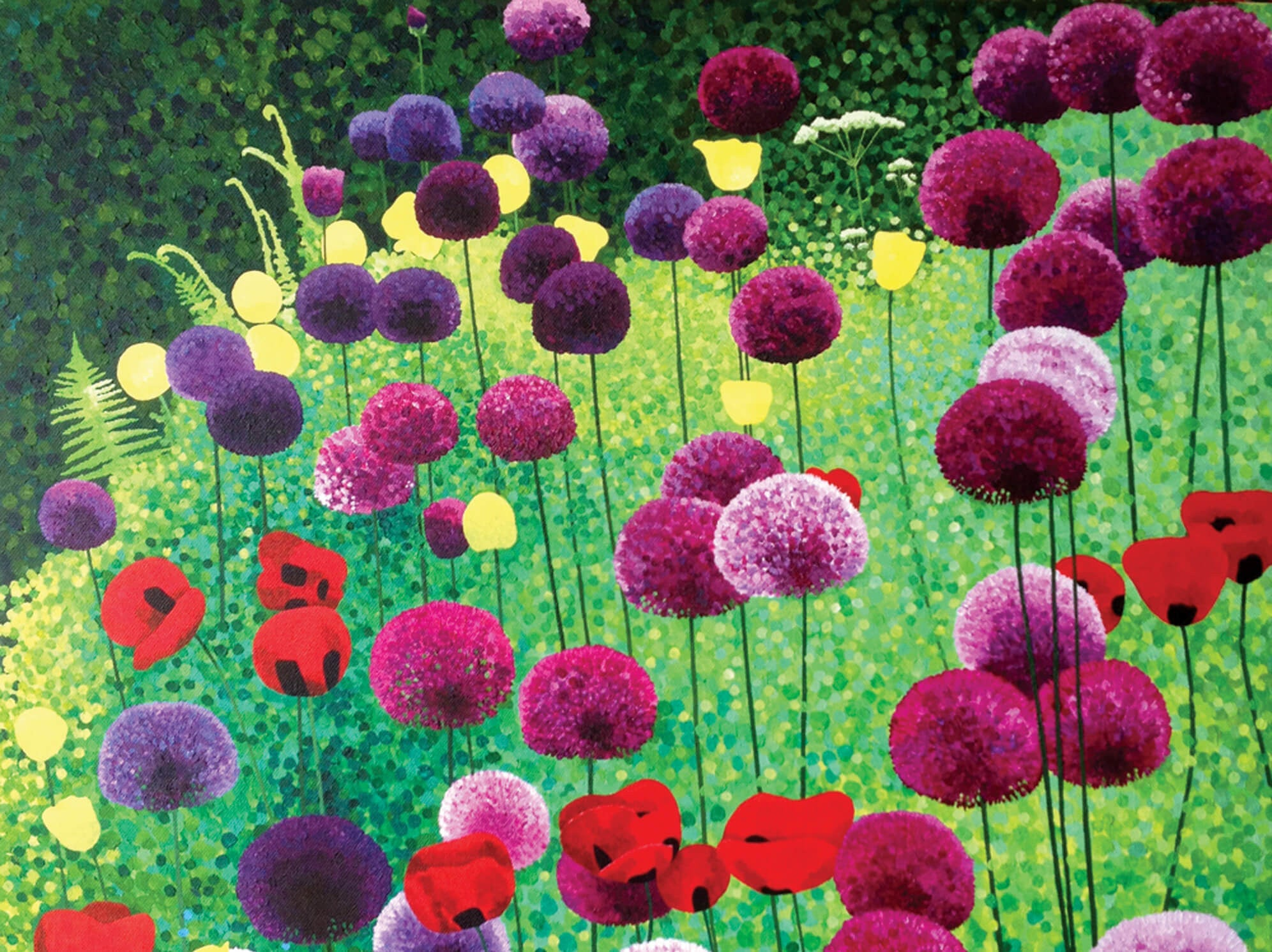 Alliums and Poppies by Susan Entwistle