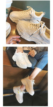 Women's Lace-Up Sneakers - ByDivStore