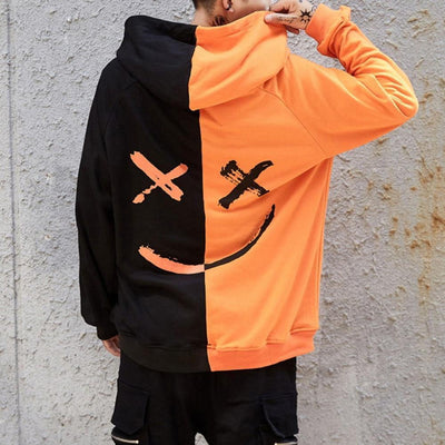 Men's Patchwork Hoodies Sweatshirt - ByDivStore