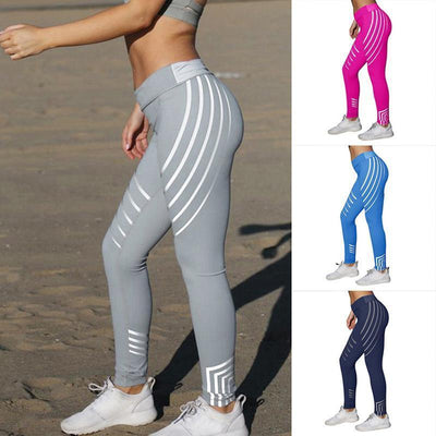 Women's Striped Printed YogaPants