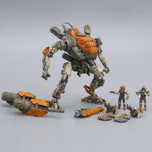 "Load image into Gallery viewer, Age Of Mecha™ Mini Mech ""Heavy"" 3D printable action figure file"