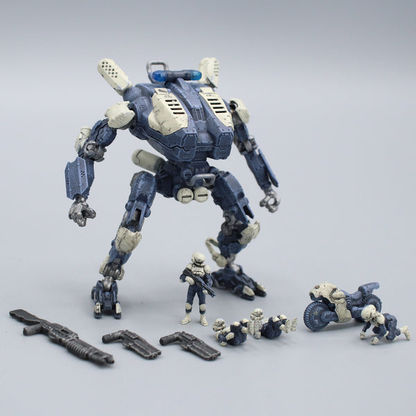 "Pocket Mech ""Police"" 3D printable action figure file"