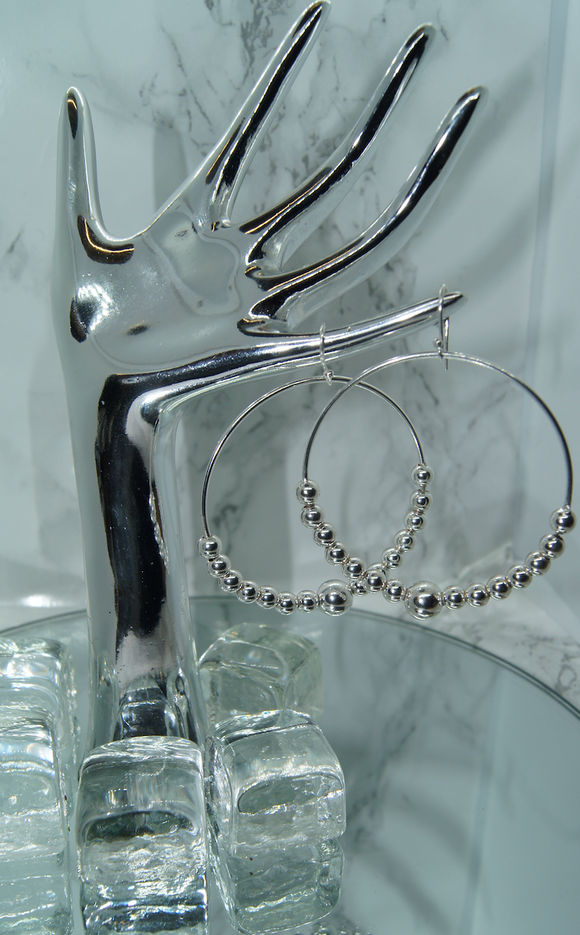 Hoop Bead Earrings