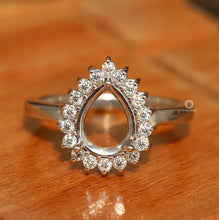 Load image into Gallery viewer, Lab Created Diamond Ring/ Round Diamond White Gold Ring/ Semi Mount Ring