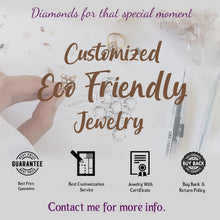 Load image into Gallery viewer, Bezel Set Diamond Pendant/ 6.00*4.00 MM Emerald Cut Diamond Pendant/ 14K Solid Gold Diamond Necklace