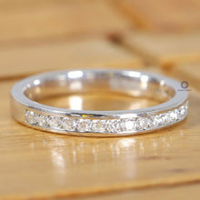 Load image into Gallery viewer, Half Eternity Band with Channel Setting/ 1.70 MM Round Lab-Grown Diamond Eternity Band