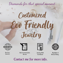 Load image into Gallery viewer, Hoop Earrings, Lab Grown Diamond Earrings, Conflict Free Diamond, Lab Made Diamond, Solid Gold Earrings
