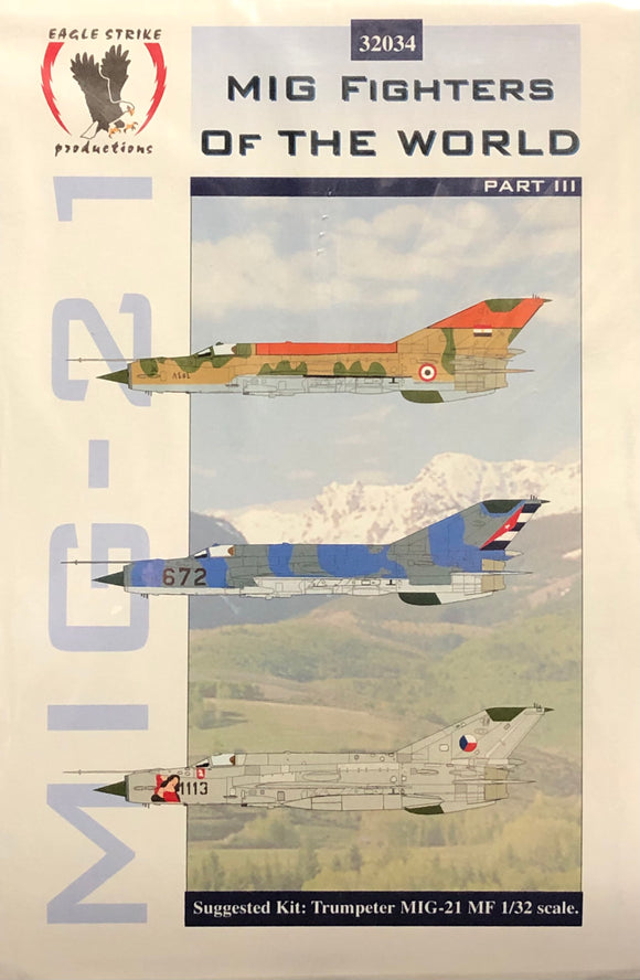1/32 Eagle Strike Decals MiG Fighters of the World Part III 32034