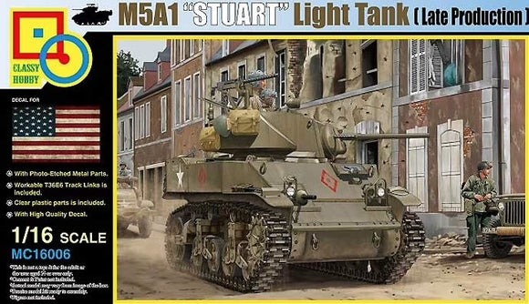 1/16 Classy Hobby M5A1 STUART (LATE PRODUCTION) w/Hedgerow Cutter
