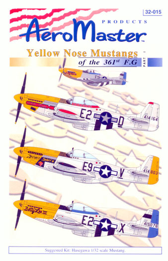 1/32 AeroMaster Decals Yellow Nose Mustangs of the 361st F.G Part I 32-015
