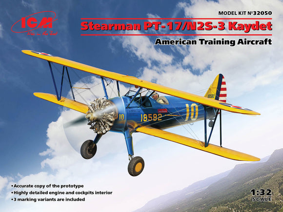 1/32 Stearman PT17/N2S3 Kaydet American Training Aircraft