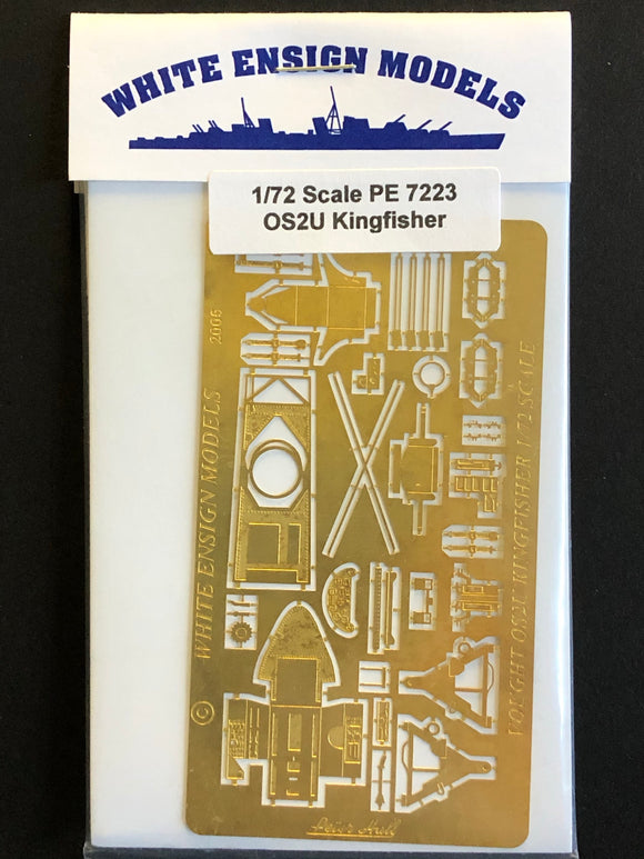 1/72 White Ensign Photo-etch detail set for OS2U Kingfisher 7223