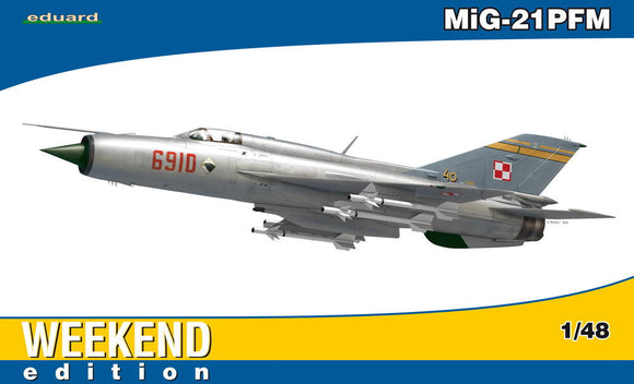 1/48 Eduard MiG21PFM Fighter (Wkd Edition Plastic Kit)
