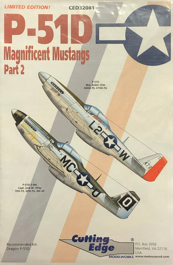 1/32 Cutting Edge Decals P-51D Magnificent Mustangs 32081