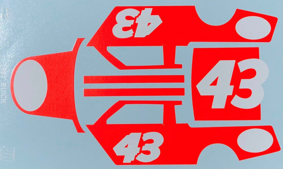 1/25 Salvinos JR Vermilion #1 Decal Sheet for Richard Petty 1981 Buick Regal