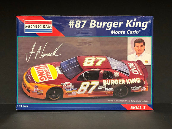 1/24 Monogram Joe Nemechek #87 Burger King 1995 Monte Carlo