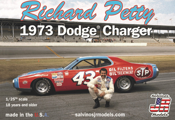 1/25 Salvinos JR Richard Petty 1973 Dodge Charger **NEW TOOL!**