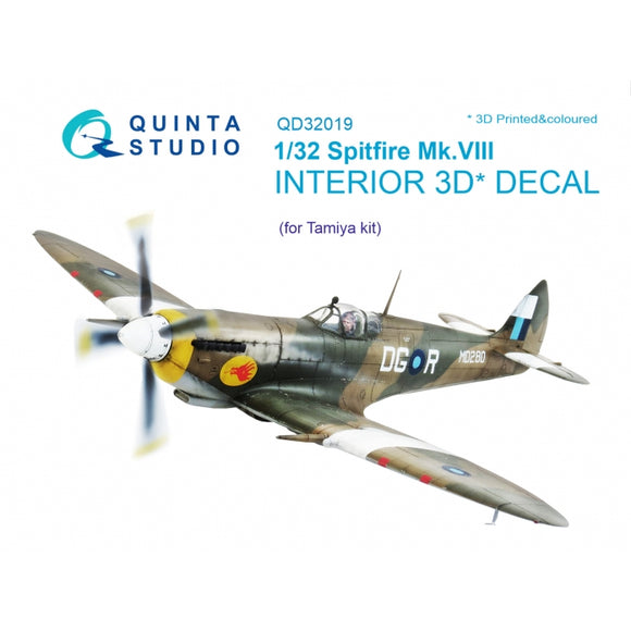1/32 Quinta Spitfire Mk.VIII 3D-Printed & coloured Interior (for Tamiya kit) 32019