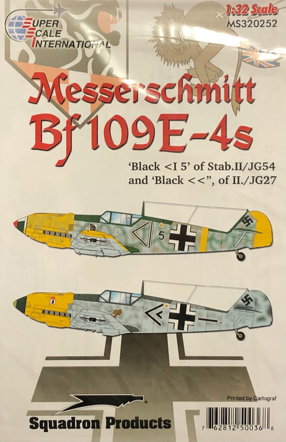 1/32 SuperScale Decals Bf 109E-4 320252