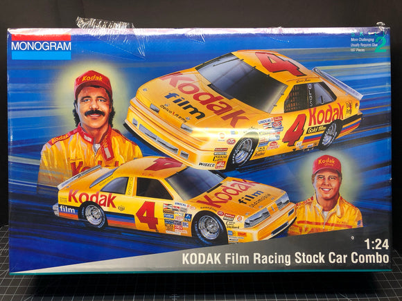 1/24 Monogram KODAK Film #4 Stock Car Combo Two car set, 1987 and 90 Olds