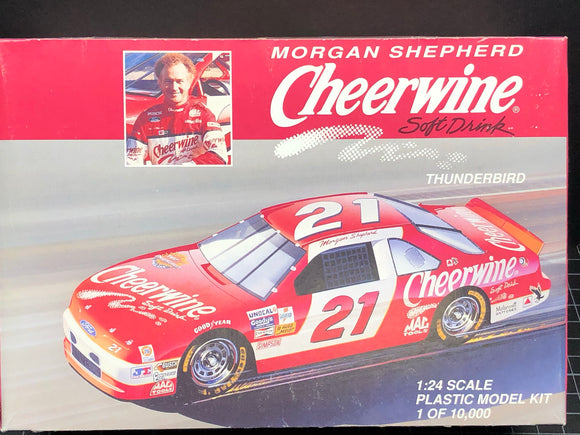 1/24 Monogram Morgan Shepherd #21 Cheerwine Thunderbird Stock Car (1994) Open