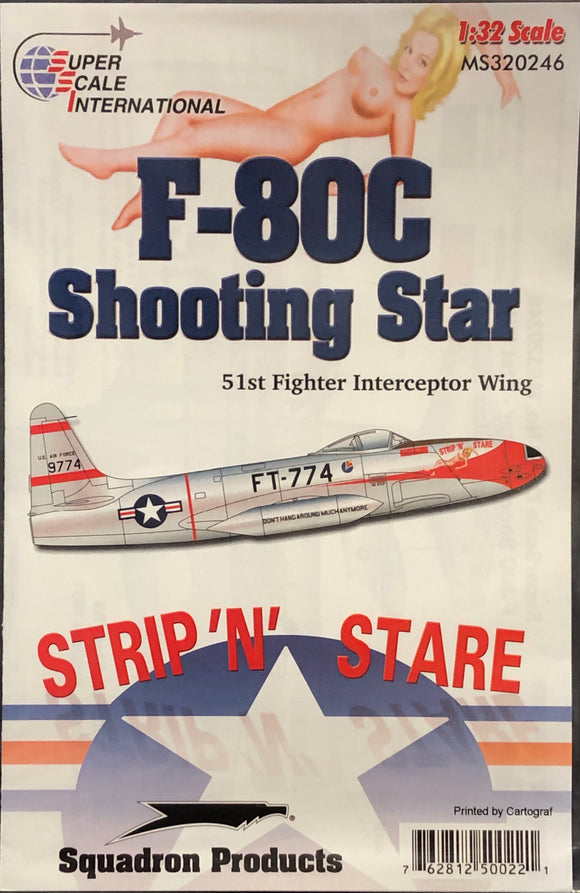 1/32 SuperScale Decals F-80C Shooting Star 'Strip N Stare' 32-246
