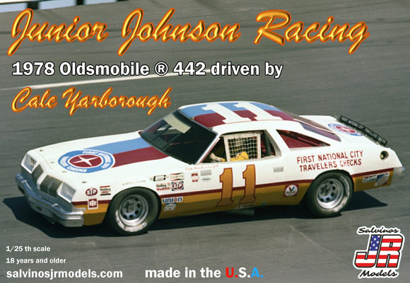 1/25 Salvinos JR Junior Johnson Racing 1978 Oldsmobile 442 driven by Cale Yarborough