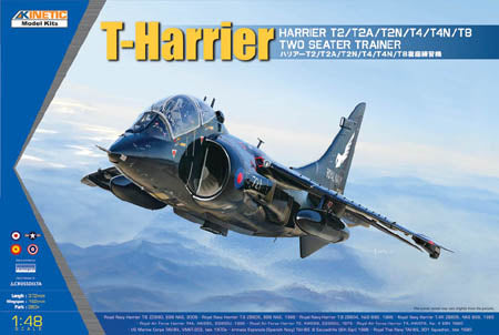 Kinetic 1/48 Harrier T2/T2A/T2N/T4/T4N/T8 Two Seater Trainer