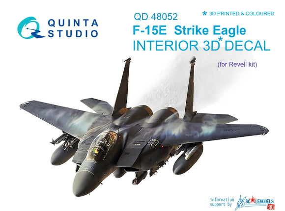 1/48 F-15E 3D-Printed & coloured Interior on decal paper (for Revell kit)