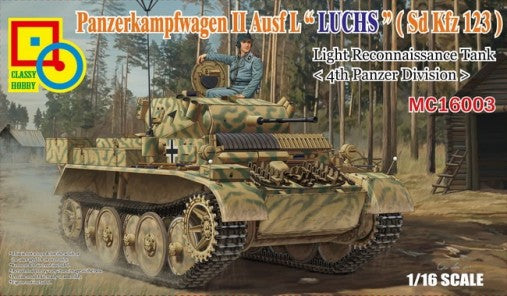 1/16 Classy Hobby PzKpfw II Ausf L Luch (SdKfz 123) 4th Pz Division Light Recon Tank