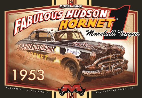 1/25 Moebius Marshall Teague's 1953 Fabulous Hudson Hornet Stock Car (Ltd Prod)