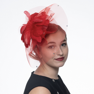 5725, red fascinator